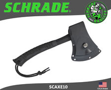Schrade Hatchet 3Cr13 Steel Full Tang Black TPR Rubber Wrapped Handle SCAXE10