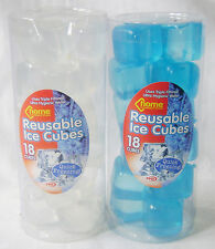 NEW 36 REUSABLE SQUARE ICE CUBES QUICK FREEZING WHITE & BLUE 2pks PMS