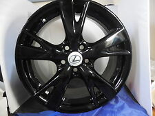 "OEM ORIGINAL 18"" LEXUS IS250 IS350 WHEEL RIM FACTORY STOCK 74218 Full SET 4Black"