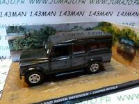 JB85E voiture 1/43 IXO 007 JAMES BOND : LAND ROVER Defender 110 Casino Royale