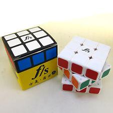 Small 54.6mm Fangshi Shuang Ren Fans f/s 3x3 White Speed Magic cube Puzzle 3x3x3