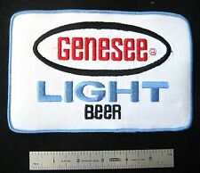 GENESEE LIGHT BEER EMBROIDERED LARGE SEW ON BACK PATCH ADVERTISING UNIFORM BADGE