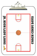 Dry Erase Basketball Clipboard Personalized W/ Your Team Colors, Logo & Text