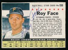 1961 Post Cereal AUTOGRAPHED #133 ROY FACE (Pittsburgh Pirates)