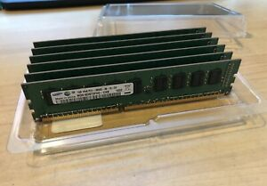 Lot of 6 - Samsung M391B2873FH0-CH9 1GB 1Rx8 PC3-10600 RAM DDR3