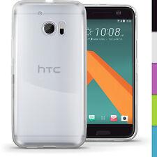Funda TPU Gel Skin Carcasa para HTC 10 2016 Cubierta Case Cover + Prot Pantalla