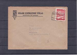 Schöner Bahnhofkastenstempel Lambach auf Brief gelaufen 1948