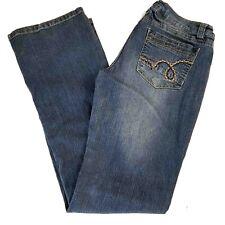 Bongo Womens Stretch Blue Low Rise Bootcut Jeans EUC Size 9
