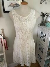 NWT Free People Miles of Lace Ivory Over Slip Dress NWT SOLD OUT $128 Large L