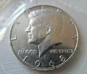 1968 JFK SILVER USA COIN IN UNCIRCULATED CONDITION !