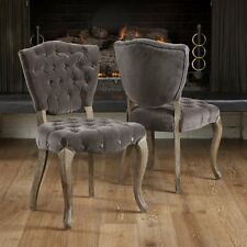 Best Selling Home Bates Tufted Fabric Dining Chair - Set of 2, Charcoal, Set of