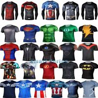 Super Hero 3D Men Marvel T-shirts Short Long Compression Sport Fitness Cycling