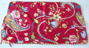 COTE COUTURE Pillow Shams~Red/Geeen/Yellow Floral~100% Cotton~2 King