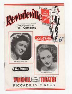 Windmill Theatre programme, Revudeville, 22nd Year, Vivian Van Damm, 1953