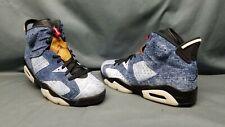 Nike Men's Air Jordan 6 Retro Fashion Sneakers Washed Denim Black Size 11 NWOB!