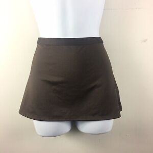 Merona Womens Swimsuit Skirt Sz S Brown Beach Cover Up Bathing Suit AA48