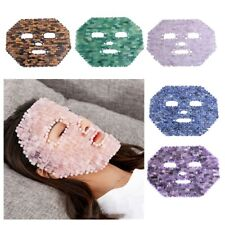 Handmade Natural Rose Crystal Quartz Sleep Face Mask Cold Jade Facial Care Mask