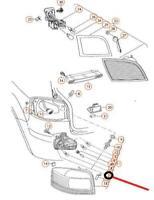 Original SEAT Lampenträger für äussere Schlußleuchte Altea//Toledo 5P