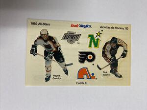 1989 Kraft Singles Canada Hockey All Stars Sticker Sheet #2 Gretzky & Tocchet