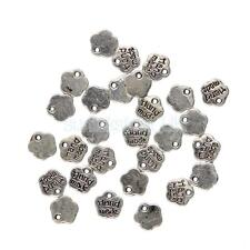 100pcs Tibetan Silver Hand Made Charms Pendant Lable Jewelry Making Craft