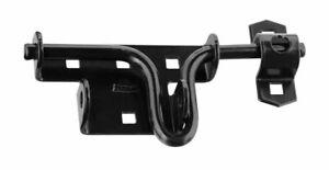 National Hardware  6-3/16 in. L Steel  Slide-Action  Door/Gate Latch  Black
