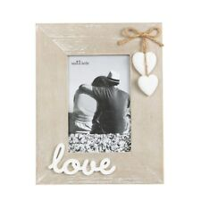 Sass & Belle Farmhouse Wooden Love Photo Picture Frame Hearts Valentines Gift