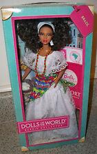 Brazil Barbie Doll Passport Collection Dolls of the World NRFB Mattel