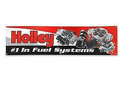 """Holley EFI Banner Vinyl Red Background Holley #1 In Fuel Systems Logo 23"""" X 96"""""""