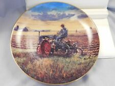 "Farmall ""Plowing at Sunset"" Collectors Plate, 1995, Danbury Mint New Condition"