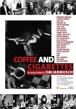 Affiche 100x140cm COFFEE AND CIGARETTES 2004 Jarmusch, Benigni, Murray, Buscemi