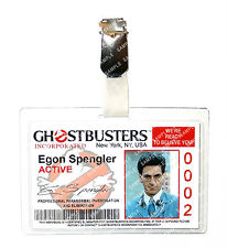 Ghostbusters Egon Spengler ID Badge Proton Pack Cosplay Prop Costume Comic Con