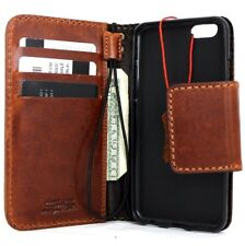 genuine retro leather Case fit apple iphone 6s book wallet cover bracket 6 s il