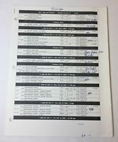 DAWSON'S CREEK set used shooting schedule ~ Season 6, Episode 17