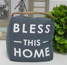 """Bless this home"" door stop 1.5kg - 6033bless"