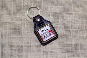 Toyota Tercel 4WD Keyring - Leatherette & Chrome Keytag
