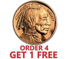 1 Ounce .999 Fine Copper Round - Indian Head