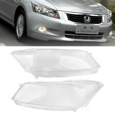 Left+Right Headlamp Lens Headlight Cover Lense Shell for Honda Accord 2008-2012