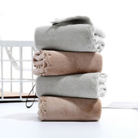 Microfiber Hand Towel Soft Plush Fabric Absorbent Hang Towel Kitchen Bathrooms-