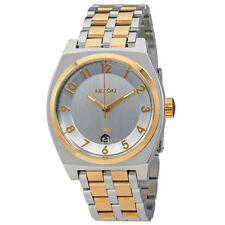Nixon Monopoly Silver Dial Ladies Two Tone Watch A325-1431-00