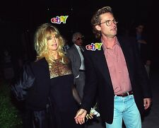 "KURT RUSSELL and GOLDIE HAWN leave dinner -1992 - 4 original 4x6"" photos"