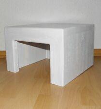 Fußbank Fußtritt Hocker Eiche Holz weiß Handarbeit Schemel Ritsche Bank Sitzbank