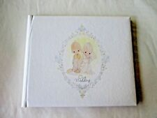 PRECIOUS MOMENT WEDDING GUESTS BOOK *NEW NO BOX*PADDED COVER*VERY RARE