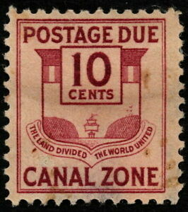 Canal Zone - 1932 - 10 Cents Claret Canal Zone Seal Postage Due Issue # J28 Mint