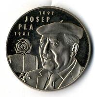 Moneda Cataluña Catalunya Catalonia 5 ecus Josep Pla 1897- 1981  año 1994