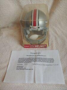 Signed Craig Krenzel Ohio State Riddell Mini Helmet
