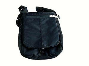 eBags Terrance Mini 2.0 with RFID Security Small Black Multi-Pocket Bag New