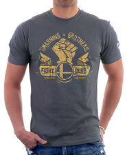 Fight Club Project Mayhem Smashing Brothers Tyler Durden CHARCOAL t-shirt H09779