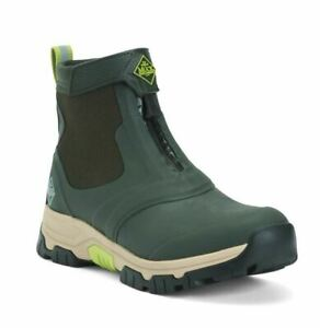 Men's Muck Boot Company Apex Mid Zip Ankle Boots Moss Tan Size 8-15 NIB