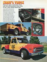 1972 Magazine Pic of Paint & Glass Master Don Kirby's 1968 Chevy Tow Truck