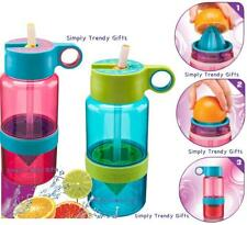 Pink Blue Citrus Zinger Water Bottle AND Straw Zing Anything Stay Hydrated!
